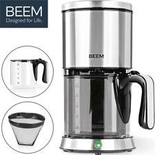Beem Filter Kaffeemaschine Edelstahl mit Glaskanne Permanentfilter Kaffeeautomat
