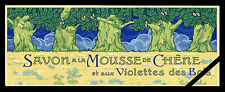 Vintage French Soap Label: Original Antique Mousse De Chene Violettes des Bois