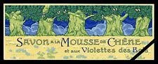 Vintage French Soap Label: Original Antique Mousse De Chene Violettes des Bois