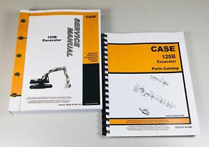 CASE 125B EXCAVATOR CRAWLER SERVICE MANUAL PARTS CATALOG SET