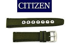 Citizen Original Eco-Drive Men's  AW1465-14H Green Canvas 20mm Watch Band Strap