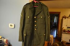 Vintage 1950s ARMY Wool, Dress Pants(32-31) & Jacket (37L)w/4 Eagle Gold Buttons