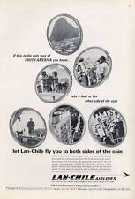 1965 Lan-Chile South American Airlines  PRINT AD