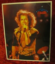 SCORPIONS KLAUS MEINE 1984 8X10 COLOR GLOSSY FAN CLUB LIVE PHOTO FREEZE FRAME