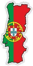 PORTUGAL Portuguese Sticker MAP FLAG SILHOUETTE BUMPER VINYL DECAL Pegatina BIKE