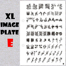 XL Image Plate E for Stamping Nail Art Design Transfer Stencils