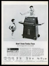 1966 Tonka Firebowl barbecue grill and toy truck photo vintage print ad