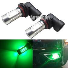2pcs Green 9005 HB3 COB LED Projector Bulbs For Car DRL / High Beam Lights Lamps