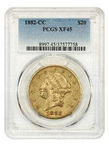 1882-CC $20 PCGS XF45 - Liberty Double Eagle - Gold Coin