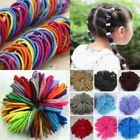 100 Quality Thick Endless Snag Free Hair Elastics Bobbles Bands Ponios Mixed