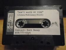 VERY RARE Don't Waste My Time DEMO CASSETTE TAPE r&b Lisa Taylor ? meteor man !
