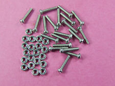 20 of M2*10 Stainless Steel A2 Pan Head Phillips Screws and nuts