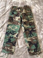 Woodland Camouflage Combat US Army Pants Trousers Size large Regular
