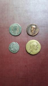 Monnaies romaine: Tibère-Caligula-Titus- Sapor I
