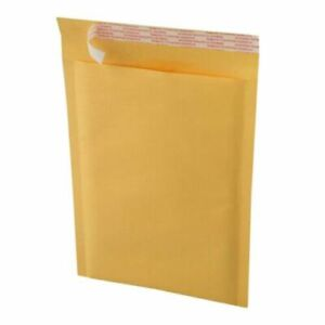"""200 Kraft #2 Bubble Mailers Padded Shipping Envelopes 8.5""""x12"""" Factory Seconds."""