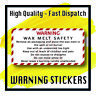 280 x WAX MELT SAFETY STICKERS WARNING Instructions requirement Labels