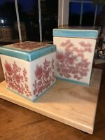 Vintage Pier One Ceramic Kitchen Canister Set