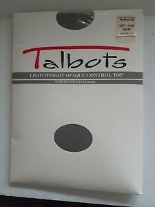 VTG Talbots Lightweight Opaque Control Top Size C Long, Smoke, Sandalfoot, New