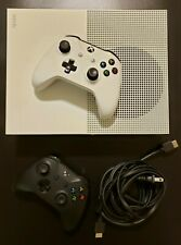 Unused Microsoft Xbox One S 1TB Console with 2 Wireless Controllers - White