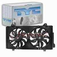 TYC Dual Radiator & Condenser Fan Assembly for 2014-2018 Mazda 3 Belts uo