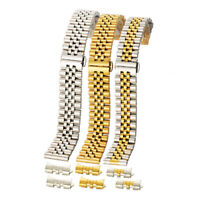Edelstahl Metall Loop Metall Edelstahl Ersatz Uhrenarmband Watch Strap 18-22mm