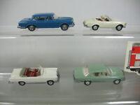 AA985-0,5# 4x WIKING H0/ 1:87 Modelle MB 230 SL Cabrio/14 b+300SE+450SE +600/15a