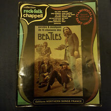 Les Beatles Collection Rock&folk Chappell partitions