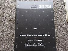 New listing Marantz 2020 2050 stereophonic tuner Original Service Repair Manual