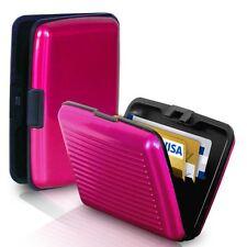 RFID Block Aluminium Holder Security Wallet Bank Card Credit Card Hard Case Pink