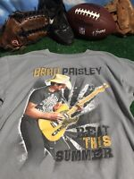 BRAD PAISLEY beat this summer 2013 tour XL see disc. concert T-SHIRT shirt c16