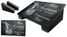 Grabstein Gedenktafel Grabplatte Tiergrabstein Gedenkplatte 22x16 Jesus Rose ST