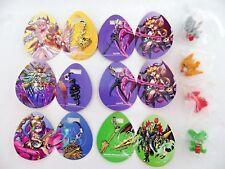 New F-toys Puzzle and Dragons Metal Charm 6pcs & mini Dragon Figure 4pcs