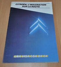 Citroen LNA Visa GSA BX CX Brochure Prospekt Prospectus France Edition 80p