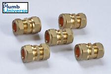 15mm x 16mm Brass Compression Reducer (Quantity 5)