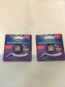 (2) Dentek Temparin Max Repair Kits Tooth Filling & Loose Cap Repair Pain Relief