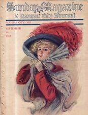 1910 Sunday Magazine September 18 - Earl Christy art - Rare image