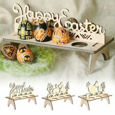 Wooden Easter Egg Shelves For Easter Rack Rabbit Pattern Decoration For Home