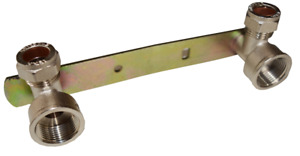 """SHOWER FIXING FITTING WALL CONCEALED  PLATE KIT 15mm x 3/4"""" BRASS BRACKET"""