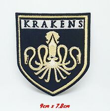 Krakens legendary sea monster Embroidered Iron/Sew on Patch #1147