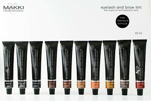Makki Professional Intensive Eyelash & Eyebrow Tint Eye Lash Brow Dye 10 Colours