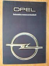 OPEL RANGE 1978 1979 UK Mkt Sales Brochure - Kadett Ascona Manta Rekord