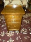 Antique+NightStand+end+table+vanity+washstand+OAK+1900%27s+refinished+%232