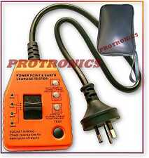 TESTER - POWER POINT, ELCB EARTH LEAKAGE, RCD, SAFETY SWITCH, CASE BAG, POLARITY