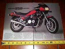 1983 YAMAHA SECA 900  - ORIGINAL 2 PAGE AD