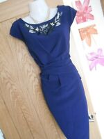 **STUNNING** LIPSY LONDON SIZE 14 NAVY STONE TOP WIGGLE DRESS *FAST POSTAGE**