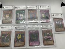 Yu-Gi-Oh METAL RAIDERS Beckett BCCG 10 LOT OF 9 SLABS LOOK!!