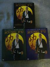 """COMPLETE COLLECTION SET OF SEASONS 1-3 OF """"KUNG FU"""" (11 DVD DISCS TOTAL)"""