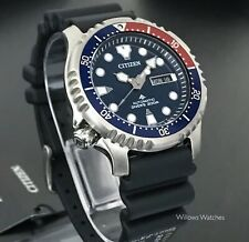 Citizen Promaster Automatic Mens Pepsi 200m Divers Watch NY0086-16LE Brand New
