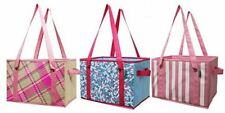 Earthwise Reusable Grocery Bag Shopping Box Deluxe Collapsible (Set of 3)