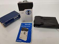 Vintage PHILIPS LFH0095 Dictaphone Pocket Memo Mini-Cassette Enregistreur